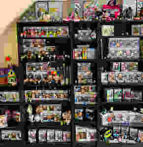 Luxurious Glitter Claire's collection of Pop Vinyls and Irregular Choice shoes