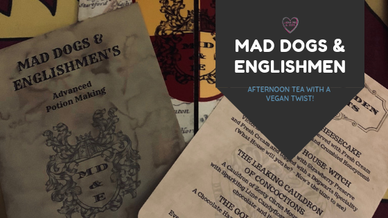 Luxurious Glitter's boss fairy visits Mad Dogs & Englishmen for vegan afternoon tea - Harry Potter style!