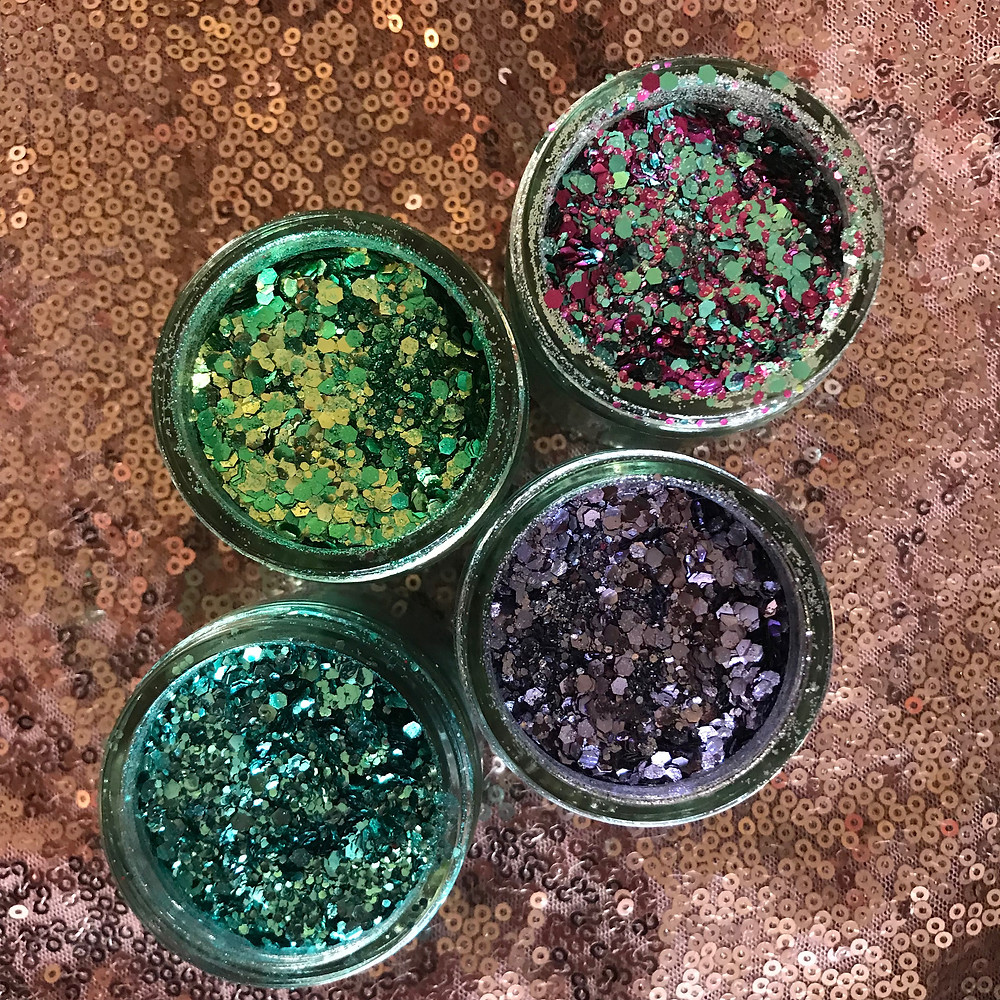 Eco glitter pots that Luxurious Glitter uses