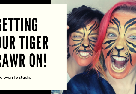 GETTING OUR TIGER RAWR ON AT ELEVEN 16 STUDIO