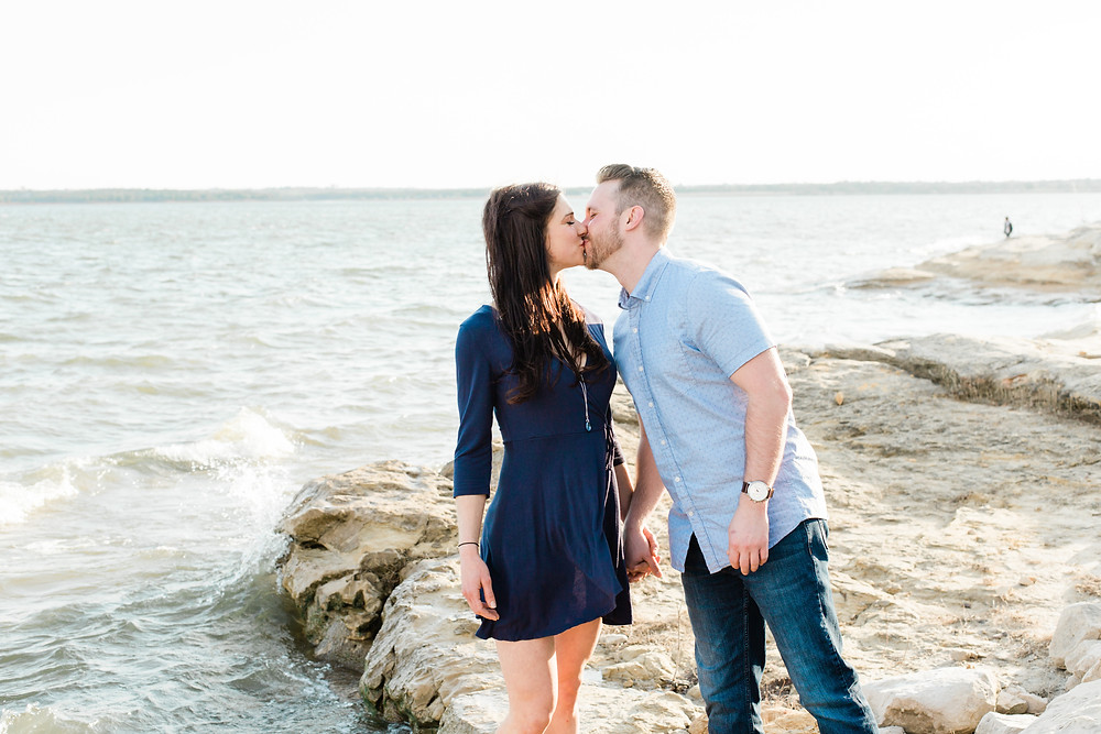 Dallas engagement photoshoot for Texas couple by Joy Photo and Video.