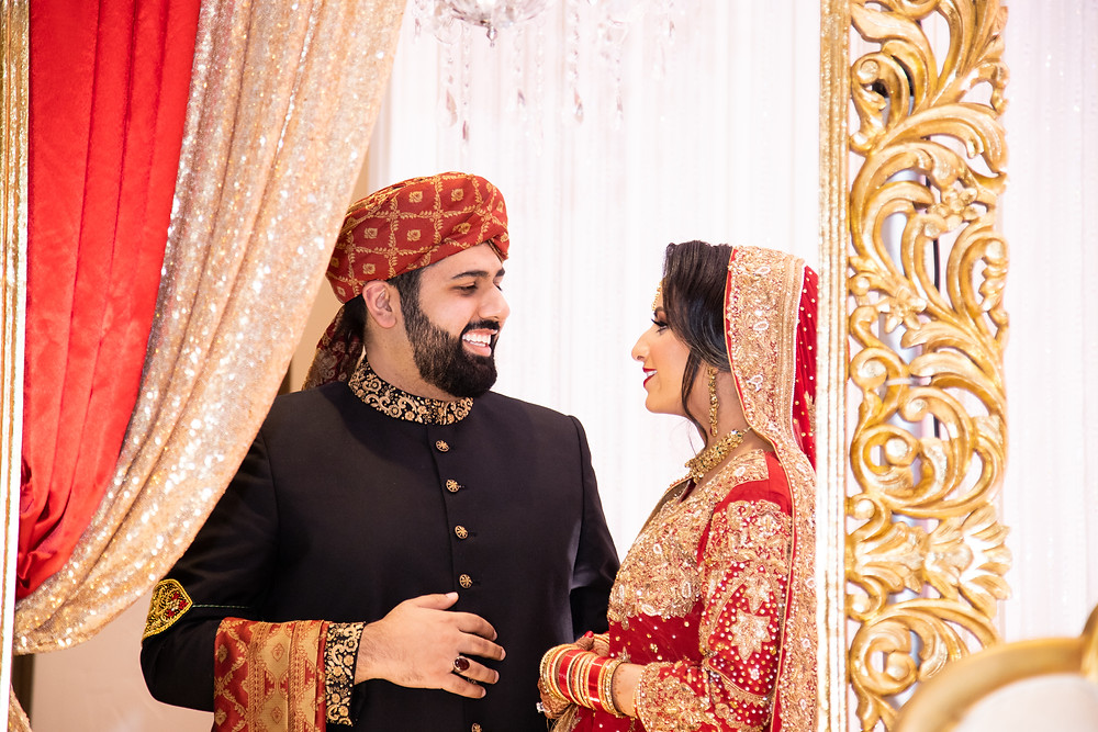 Indian couple in Dallas, Texas religious wedding by Joy Photo and Video.