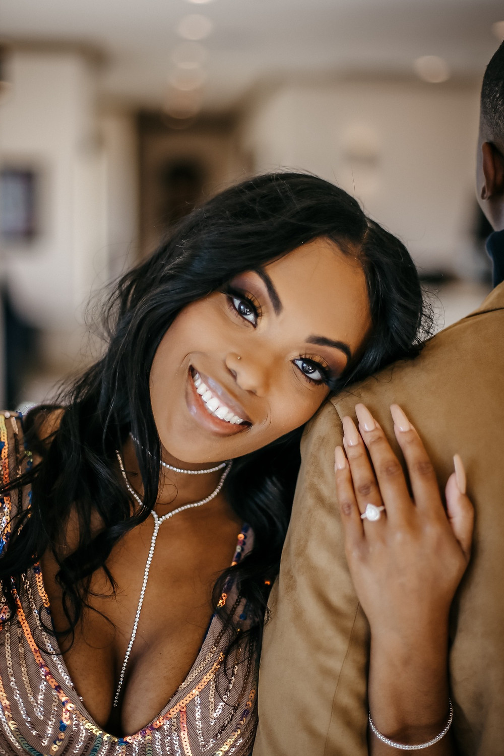 Engagement ring photo in Dallas, Texas by Joy Photo and Video.
