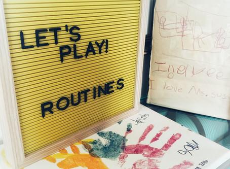 Fun Friday Idea: Creating Routines
