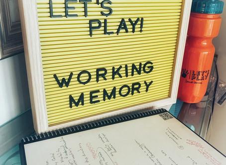 Fun Friday Idea: Working Memory