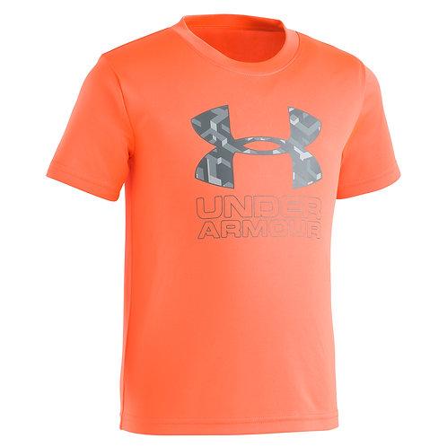 Knockout Big Logo SS - Orange Glitch