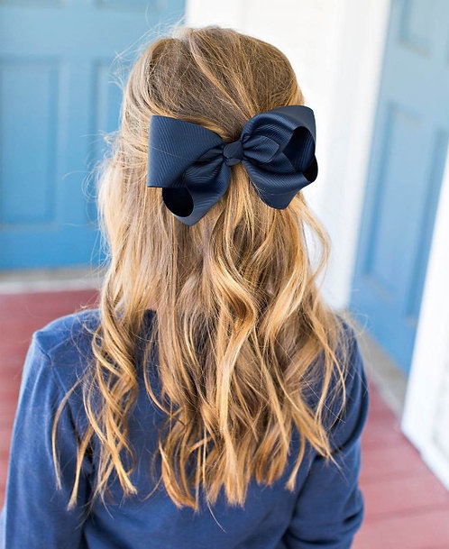 "Bows - 6"" Navy Single"