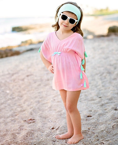 Pink Tassel Cover-Up