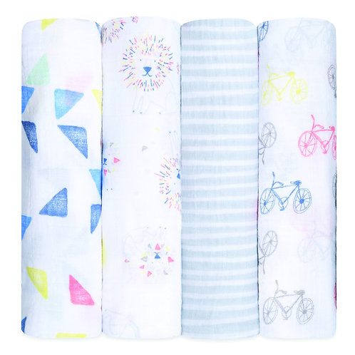 """47"""" Classic Swaddle Set - 4 pk - Leader of the Pack"""