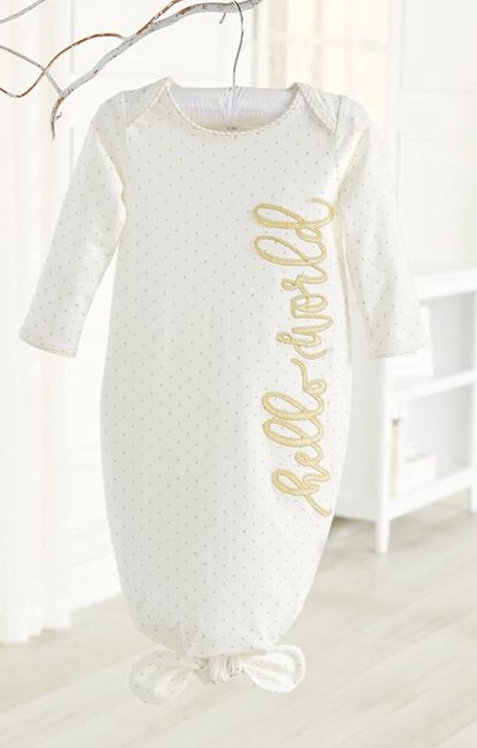 Hello World Tie Sleep Gown