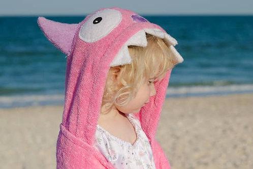 Pink Monster Hooded Towel