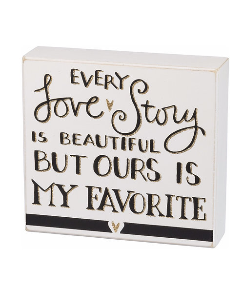 Box Sign - Love Story