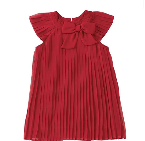 Red Claret Pleated Dress (2T)
