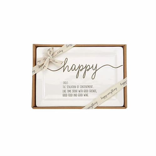 Boxed Happy Definition Platter