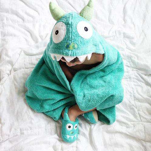 Turquoise Hooded Towel