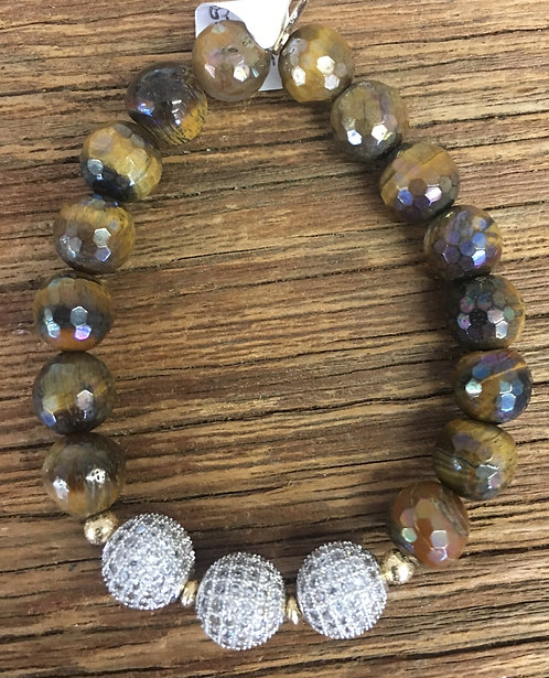 Tiger Eye Triple Shimmer Bracelet