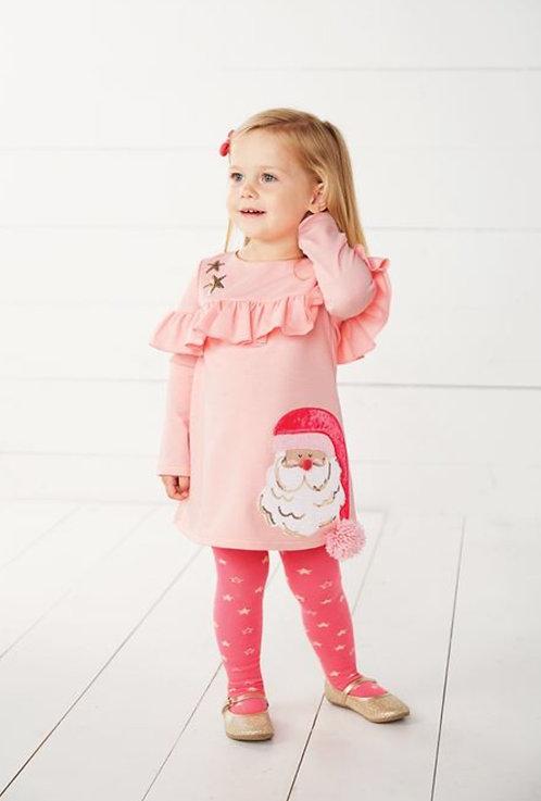 Pink Santa Dress & Tight Set