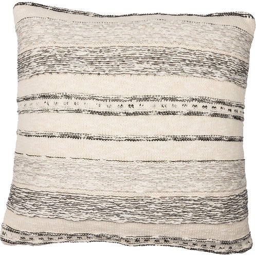 Pillow - Black & Grey Stripe