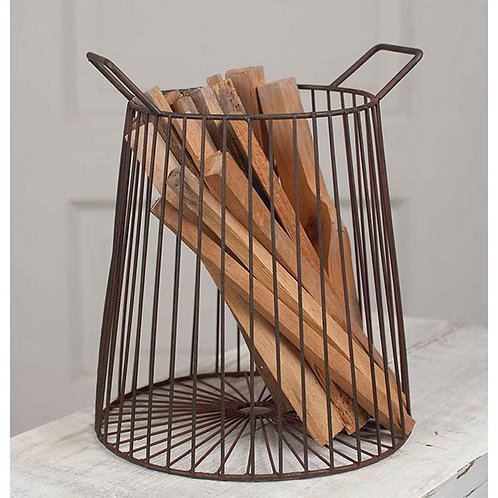 Farmhouse Basket - Brown – Tall
