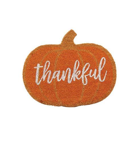 Thankful Pumpkin Doormat