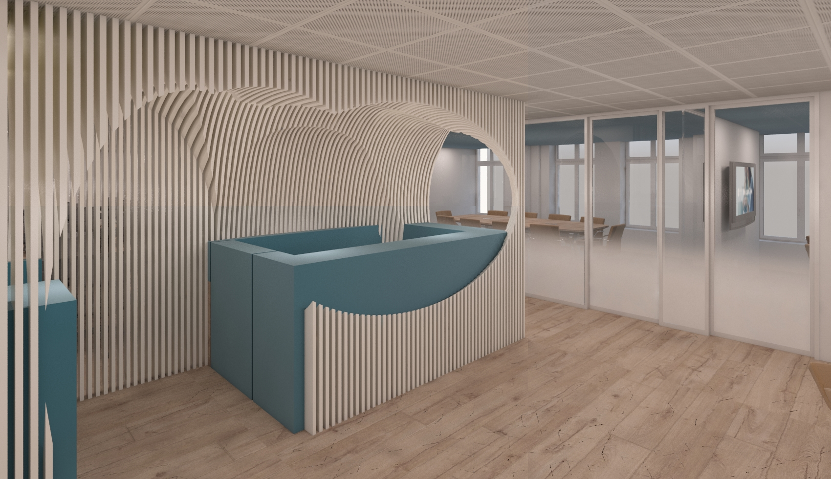 Offices renovation in London by Stavropoulou architects, Athens, Greece
