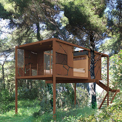 A tree house design, wheelchair accessible, Stavropoulou architects, greek architects
