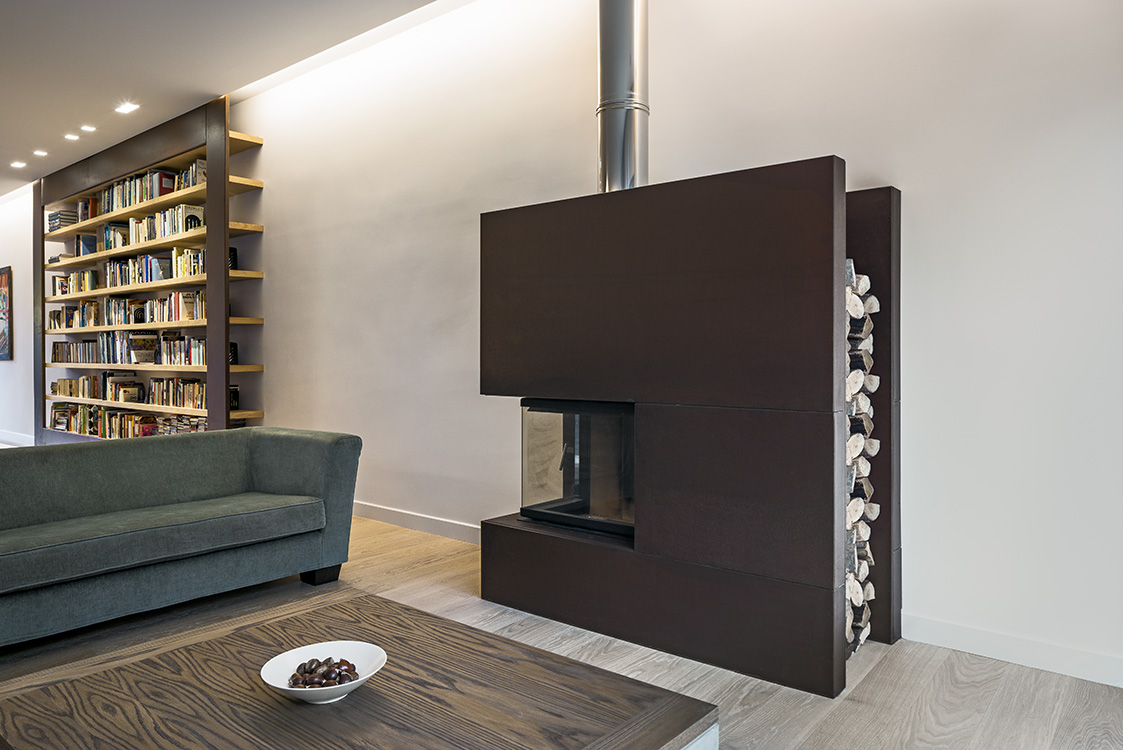 Fireplace design by Stavropoulou Architects