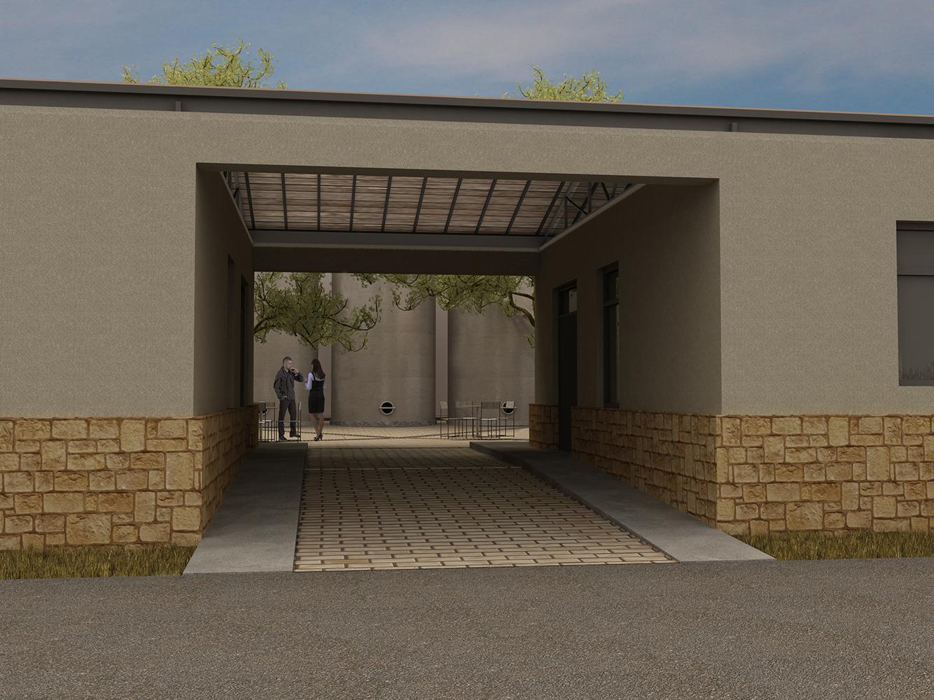 Kechris winery's entrance