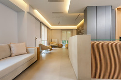 clinic renovation, reception design, Stavropoulou Architects