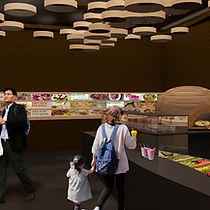 Stavropoulou Architects, Greek Salad Deli in New York, Interior photoreal View