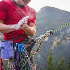 Horolezec práškování Hands