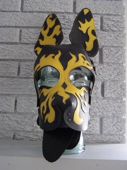 YELLOW FLAME PUP MASK