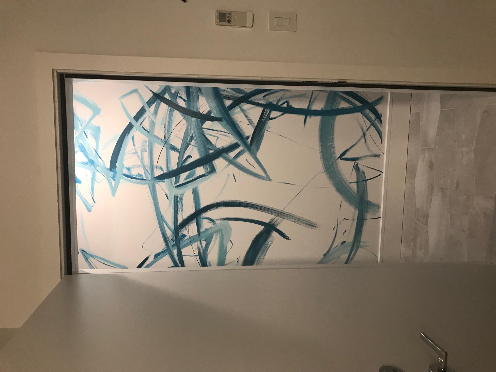 Piero Manrique Abstract Wall Mural frame
