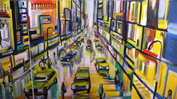 NYC Street Scene Mural by Manrique