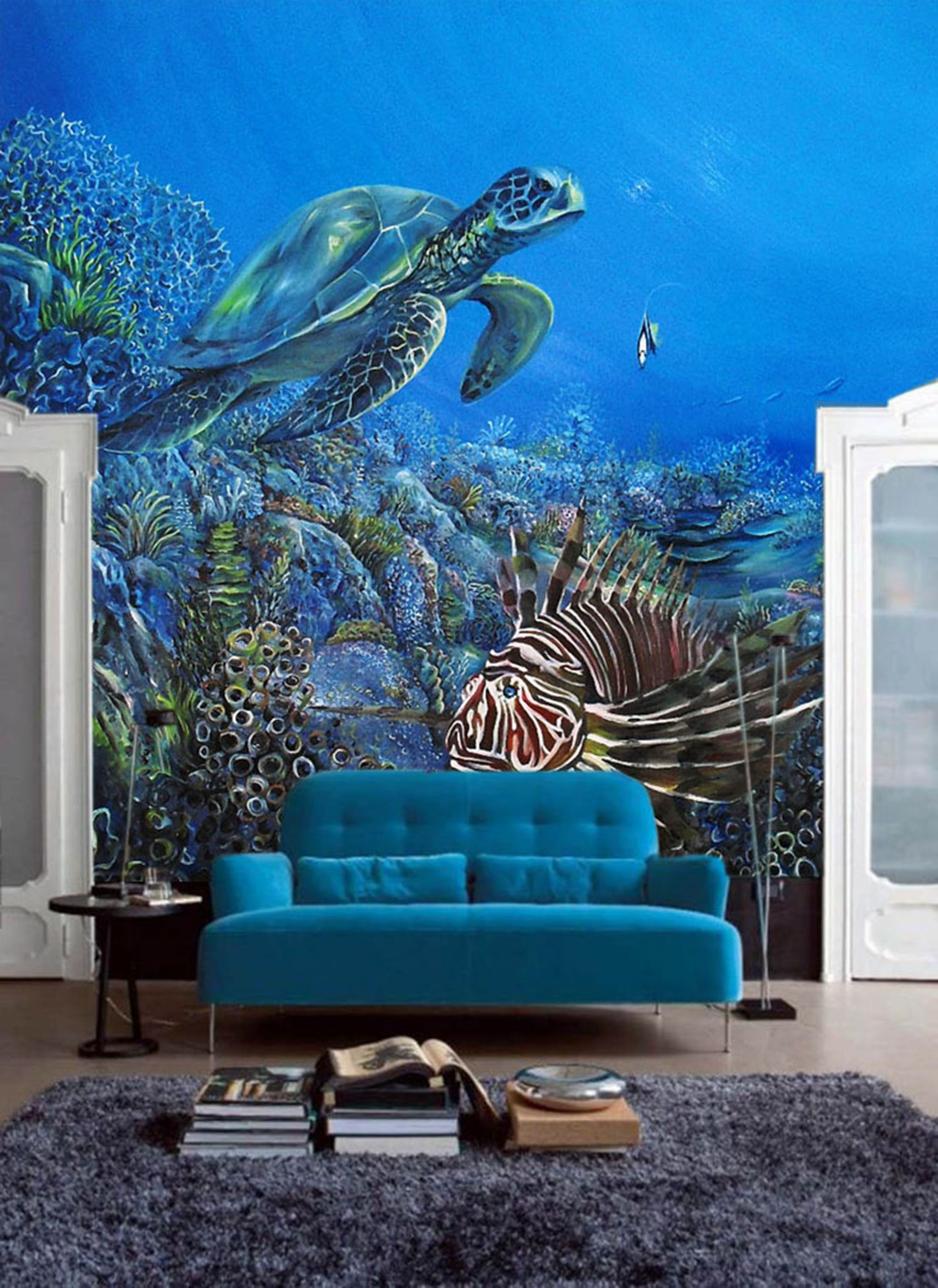 Turtle and Fish Mural by MMAD