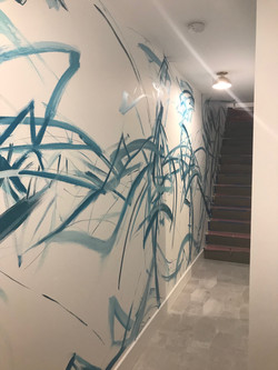 Piero Manrique Abstract Stairway Mural