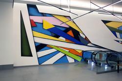 City Center mural by Piero Manrique