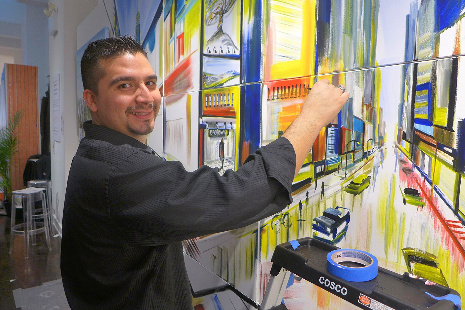 Piero Manrique Paints NYC Mural