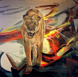 Lion Detail from NJ Custom Mural