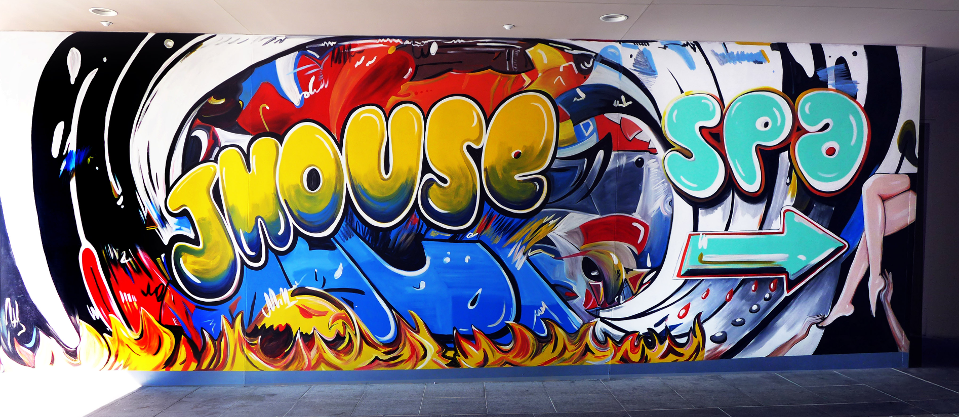 Hotel Mural by CT Muralist Manrique