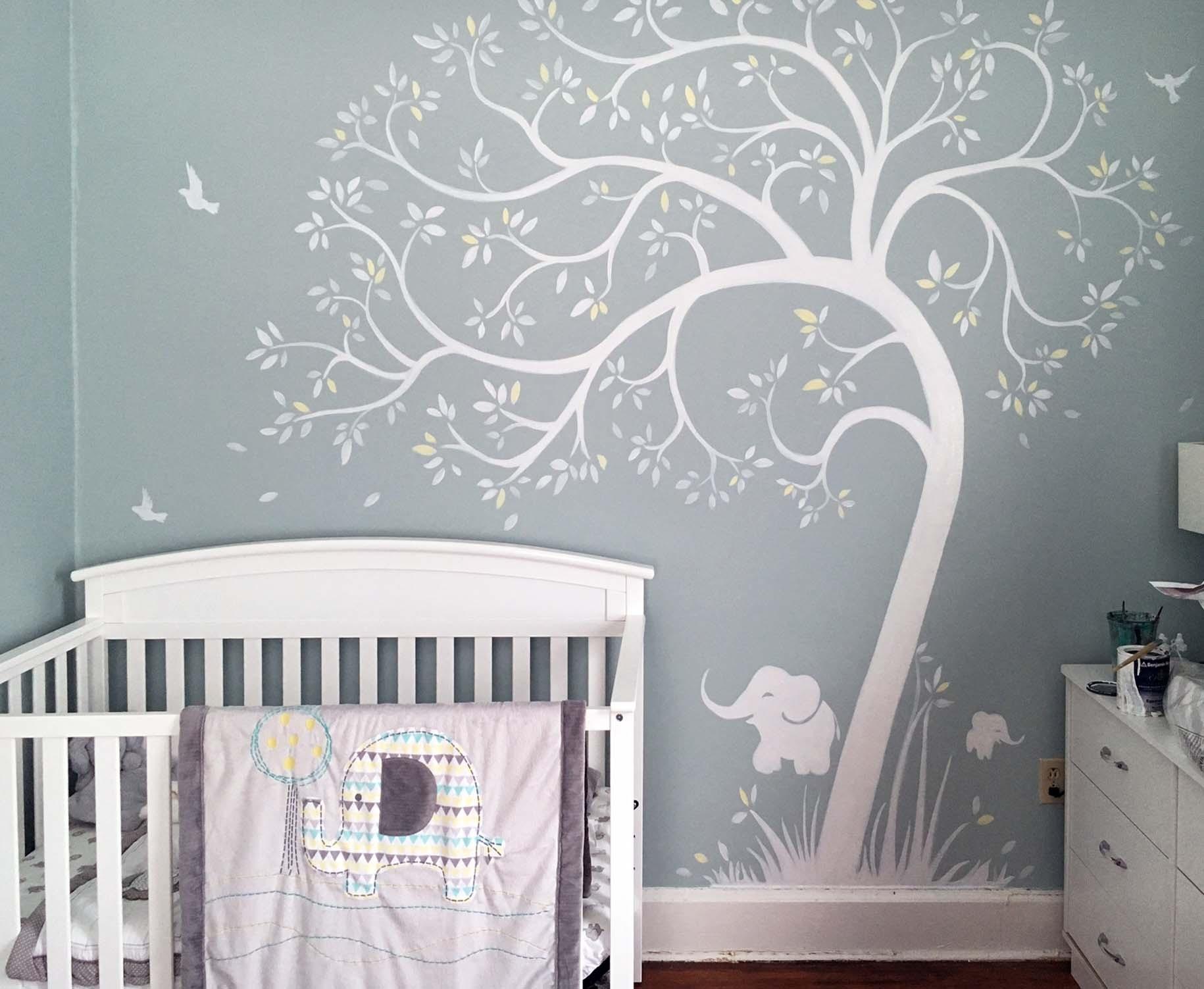 Piero Manrique custom nursery mural - Westchester County NY