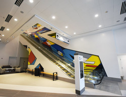 CIty Center lobby mural by MMAD