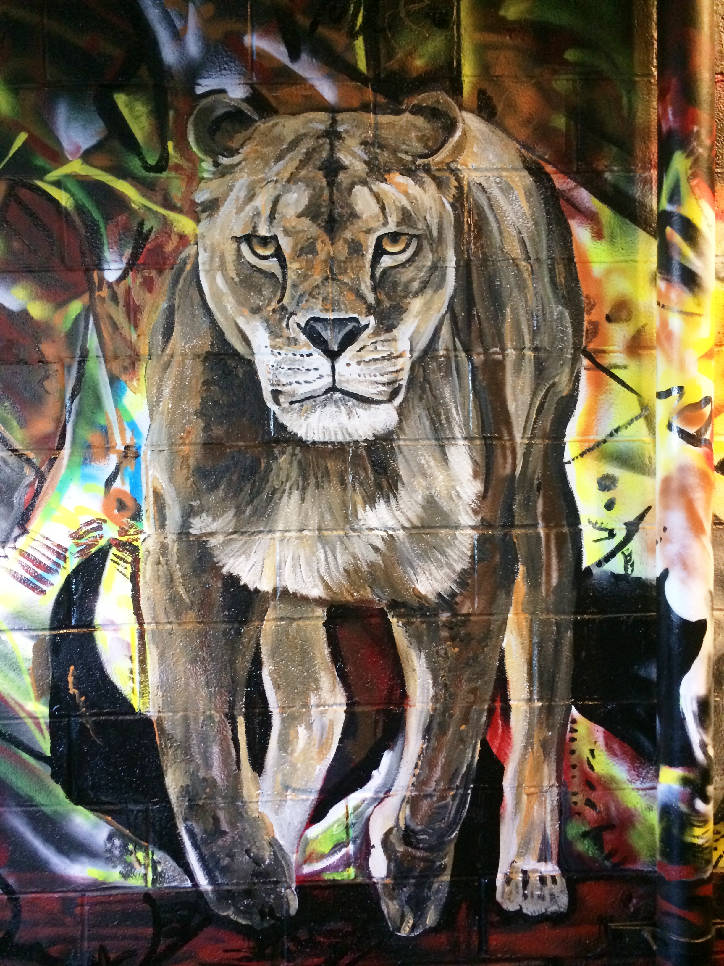 Completed Lion in MMAD Mural