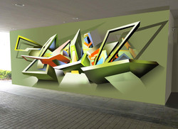 3D Wall Mural by MMAD