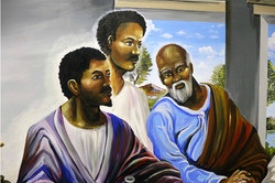 Last Supper Mural Detail by Manrique