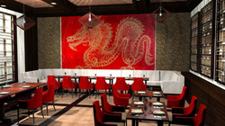 Golden Dragon Mural Design by MMAD