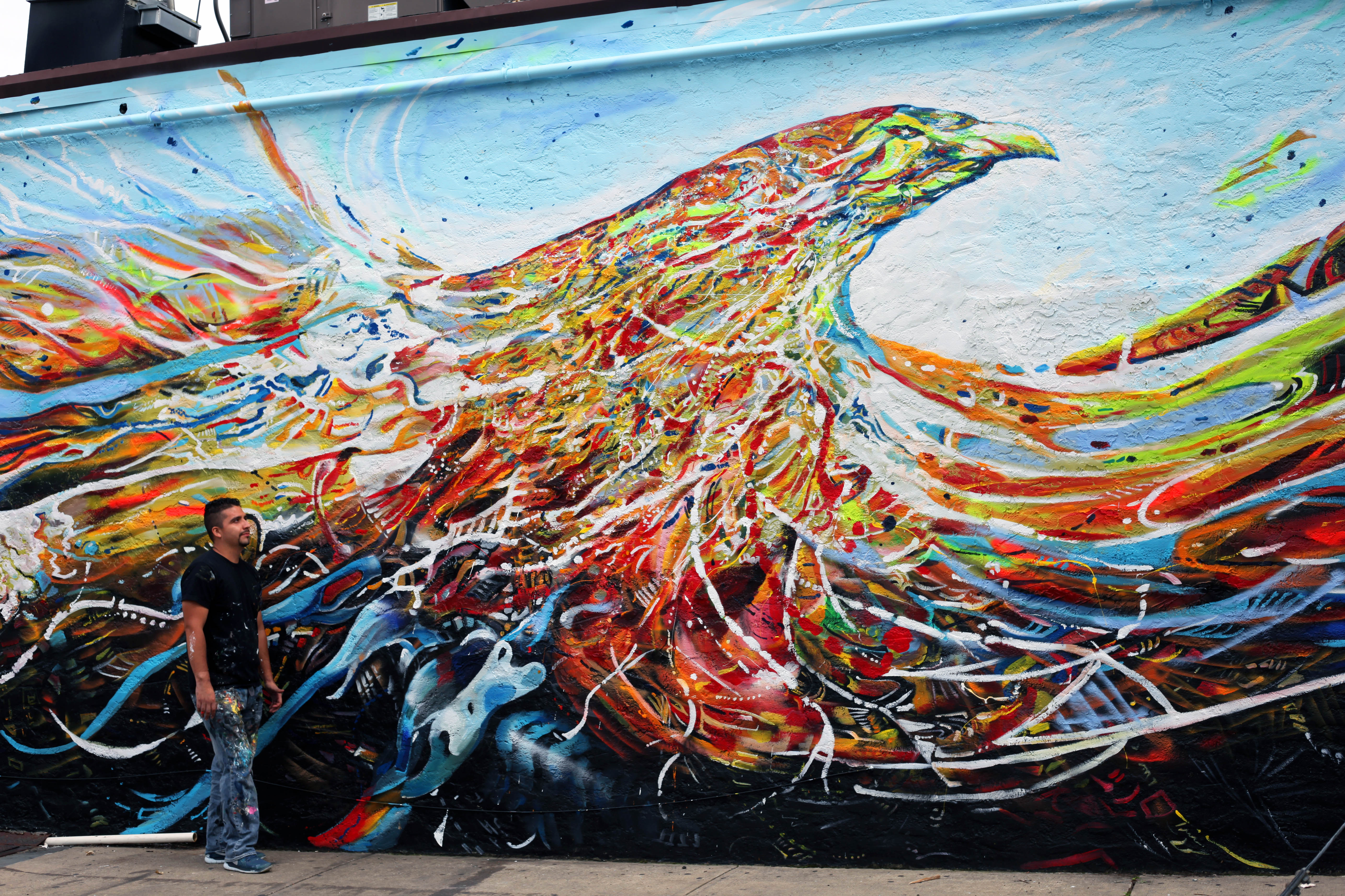 """""""Free"""" street mural by MMAD"""