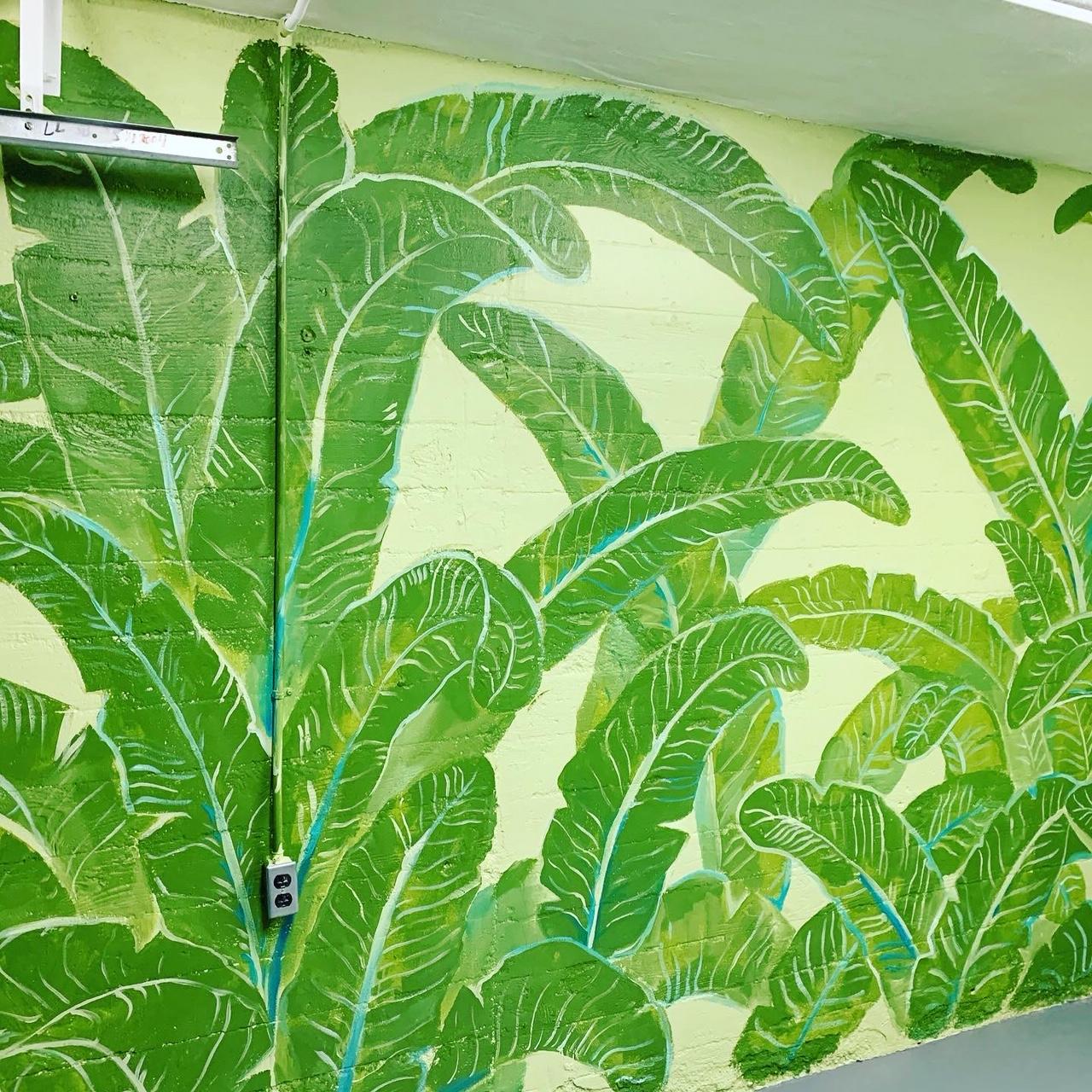 Piero Manrique Leaf Mural on garage door