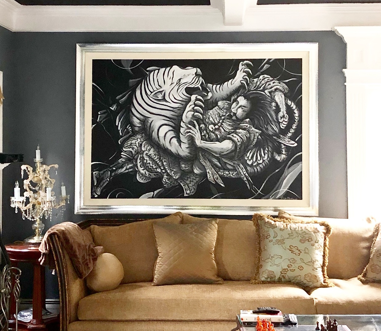 Asian Tiger by Piero Manrique in New Jersey Living Room