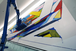 Manrique painting City Center mural